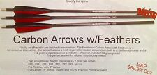 Fleetwood Carbon Arrows with Feathers and 100 grain points 1/2 dozen