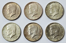 Sammlung Lot 13 Münzen Silber Silbermünzen USA Half Dollar Kennedy 1964-1969
