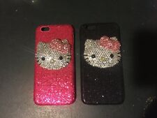 3D hello kitty iPhone crystal case bling diamond cover+ screen protector