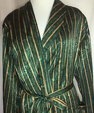 Victorias Secret Robe XS S Green Gold Shimmer Vintage Extra Small to Small