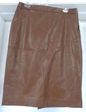 LADIES SIZE 12 FAUX LEATHER SKIRT