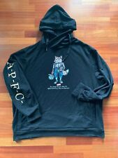 AKOO MENS BLACK HOODIE PULL OVER FOX LOGO SIZE 5XL 100% AUTHENTIC