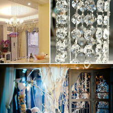 1/5M Crystal Clear Acrylic Bead Strings Garland Chandelier Hanging Wedding Party