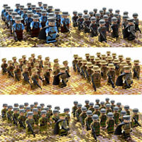 21pcs WW2 Military Soldiers France US Britain Army Weapon Building Minifigures