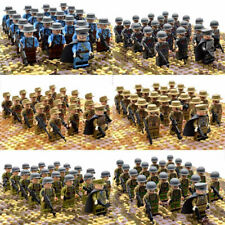 21Pcs/set WW2 Military Soldiers German US Britain Italy Army + Weapon Blocks