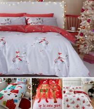 Catherine Lansfield Robins Easy Care Double Duvet Set Red