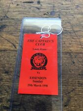 VINTAGE 1998 MCG LANDY ROOM MCC TICKET CAPTAINS CLUB RICHMOND TIGERS FOOTY