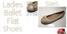 Ladies Shoes Flat Bow Ballerina Style Shoes Ostrich Size5 New Free Delivery