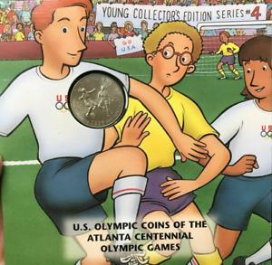 1996 S Young Collector's Atlanta Olympics Soccer Half Dollar Coin HTF