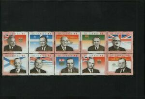 CANADA 1998 PREMIERS MNH BLOCK OF 10