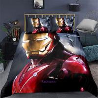 Red Ironman Single/Double/Queen/King Size Bed Doona/Duvet/Quilt Cover Linen