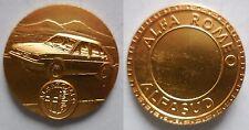 medaglia Auto Alfa Romeo alfasud bronzo dorato