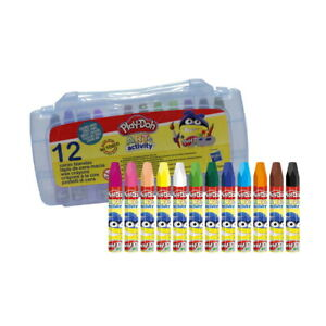 Coloriage : 12 Crayons De Couleur A La Cire 10mm - PlayDoh Art & Activity