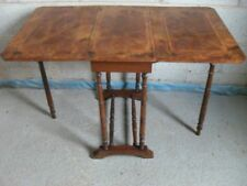 Lovely Edwardian Walnut and inlaid canted corner Sutherland table