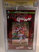 Harley Quinn Futures End #1 CGC 9.6 Signed NYCC Hate It First Issue Variant Book