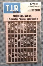 2 PLANCHES EN PAPIERS DE PLAQUES QRZ #5 (ANGLAISES) , ACCESSOIRES CAMIONS 1/24e