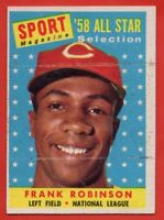 1958 Topps #484 Frank Robinson EX-EX+ MARKED Cincinnati Reds FREE SHIPPING