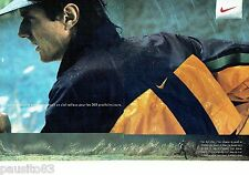 PUBLICITE ADVERTISING 116  1996  Nike (2p) blouson Clima F.I.T Mark Allen