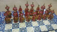 Russian USSR wooden beautiful interior chess. Exclusive. Hand-painted. 1980ths