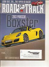 Road & Track June 2012 - Porsche Boxster - SRT Viper GTS - Cooper S Coupe -