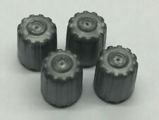 4 x TPMS Grey Plastic Dust Caps With Rubber Seals Suits All Car, Van Valves