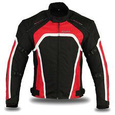 """Motorbike Motorcycle Waterproof Racing Cordura Textile Jacket Red 2289 L 38""""-40"""""""