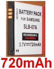 Batterie 720mAh type SLB-07A SLB07A Pour Samsung PL170