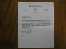 LEONARD KLEINMAN  Signed 1990 Personal Letter (New York Yankees Exec. Vice-Pres.