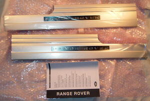Land Rover Range Rover L322 2011-12 Genuine OEM Blue Illuminated Door Sills NEW