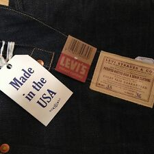 LVC Levi's® Vintage Clothing 1878 Pantaloons Jeans Raw Denim BNWT 33 36 USA Made