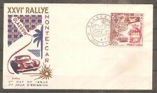 TIMBRE MONACO 1956 FDC 1ER JOUR N°441 OBLITERE USED 26eme RALLYE