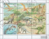 Benin 1040-1048 Kleinbogen (kompl. Ausg.) gestempelt 1998 Prähistorische Tiere