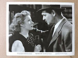 Greer Garson and Clark Gable original portrait photo 1944 Adventure