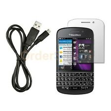 NEW USB Micro Cable+LCD HD Screen Protector for Android Phone BlackBerry Q10 4G