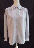 C&A vint/retro silky/crepe feel long sleeve top / blouse Size 12 / 14 ?