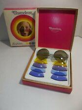 Vintage Chameleon Ben Hur SUNGLASSES Interchangeable ROUND lens ORIGINAL BOX