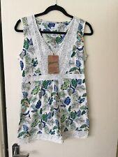 Bnwt Mantaray Lace Toucan Tunic Off White Sleeveless Top Size 10