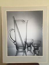 Mid Century Kodak Black White Drinking Glasses Medalist J Paper Photo Rick Warne