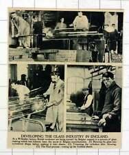 1920 formazione esperto BELGA dato a willesden FACTORY fabbricazione di vetro