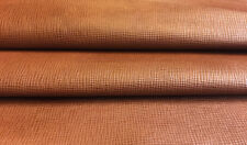 Brown Leather Hide Genuine Goat Skin Textured Print Thin Craft DIY Material 722