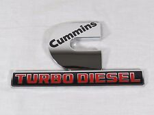 RAM CUMMINS TURBO DIESEL EMBLEM 13-17 OEM FENDER BADGE sign symbol logo pickup