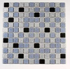 Wholesale Lot - 20 Sqft Glass Mosaic Tiles on Mesh Metallic - Free Ship In Usa