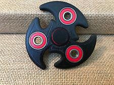 EDC Fidget Hand Spinner 3D Printed  - Black Bigger Design - High Quality Bearing