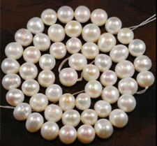 9-10mm White Freshwater Cultured Pearl Loose Bead 15''