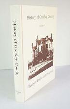 History of Greeley County Volume II 1987 Kansas KS Genealogy Family Histories