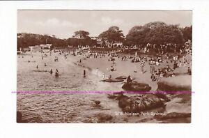 RARE PHOTO   NIELSON PARK    Sydney Harbour Beach  c.1920s  Bathers AUSTRALIA