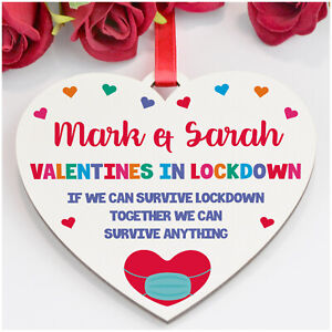PERSONALISED Funny Valentines Lockdown Gifts for Him Her Boyfriend Husband Wife