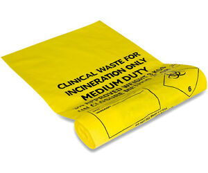 Clinical Waste Bags Yellow - Small or Large