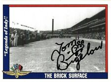 Tom Bigelow signed 1991 LEGENDS OF INDY card RACING CART #11 BRICK SURFACE