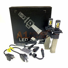 NEW Fanless Canbus H4 9003 36W LED Headlight Kit 6000K White Bright Hi/Lo Bulbs